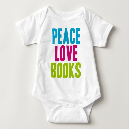 Libros del amor de la paz tee shirts