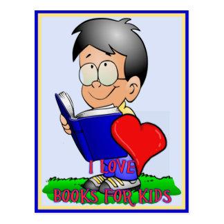 Libros del amor de los muchachos para los niños tarjetas postales