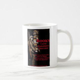 libros del censor taza de café