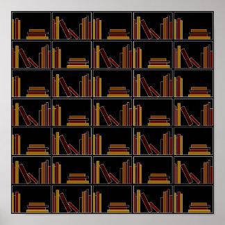 Libros del color de Brown, de Borgoña y de la most Póster
