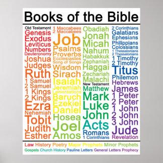 Libros del poster de la biblia 16x20 - versión