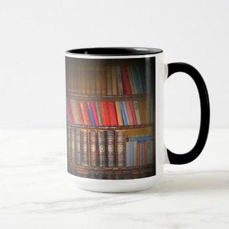 Libros del vintage taza