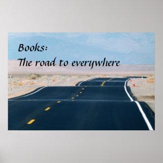 Libros: El camino a por todas partes Póster
