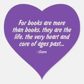 Libros: el mismos corazón y base de edades más pegatina en forma de corazón