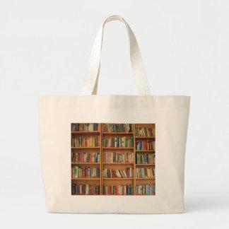 Libros en el estante bolsa tela grande