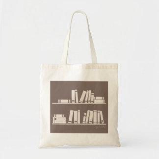 Libros en el estante para leer el amante o al sabe bolsa tela barata