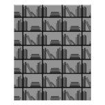 Libros en estante. Gris y negro Tarjeta Publicitaria