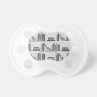 Libros en estante Monocromático Chupetes De Bebé