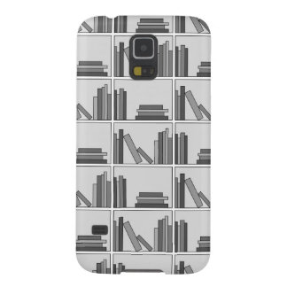 Libros en estante. Monocromático Fundas Para Galaxy S5