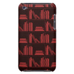 Libros en estante. Rojo oscuro. Case-Mate iPod Touch Protector