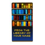 Libros en etiquetas del pegatina del Bookplate del Etiqueta De Envío