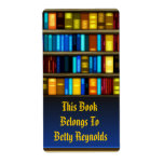 Libros en etiquetas del pegatina del Bookplate del Etiquetas De Envío