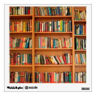 Libros en fondo del estante vinilo decorativo