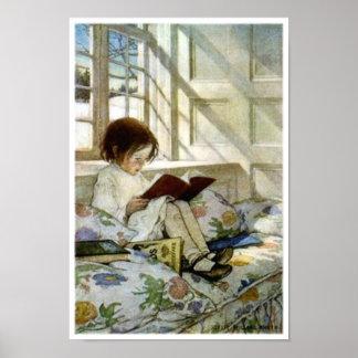 """""""Libros en invierno """" Póster"""