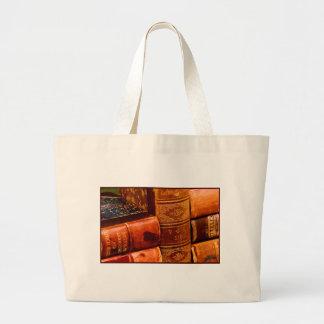 Libros encuadernados de cuero bolsa