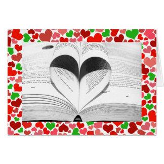 Libros femeninos lindos/Casa-de-Grosch del amor de Tarjeta De Felicitación