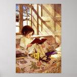 Libros ilustrados en invierno de Jessie Willcox Sm Poster