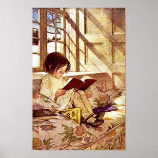 Libros ilustrados en invierno de Jessie Willcox Sm Póster