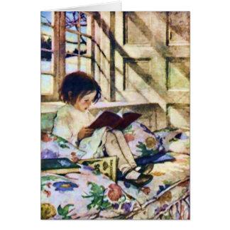 Libros ilustrados en invierno de Jessie Willcox Tarjeta De Felicitación
