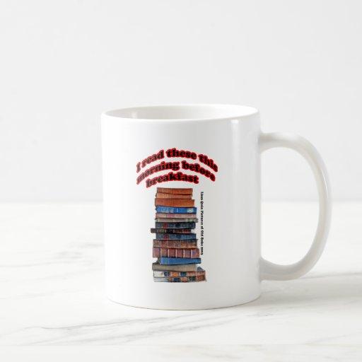 Libros leídos antes de desayuno taza básica blanca