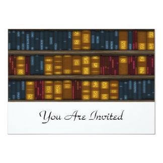 """Libros, libros, libros - modelo del estante invitación 5"""" x 7"""""""