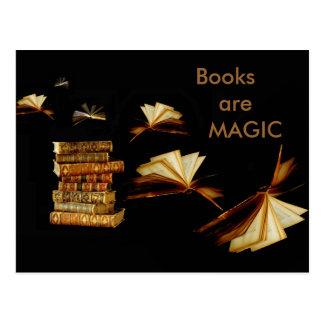 Libros mágicos tarjetas postales