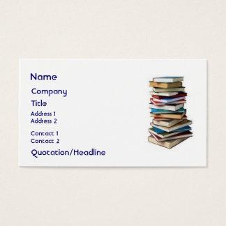 Libros maravillosos, tarjeta de negocios