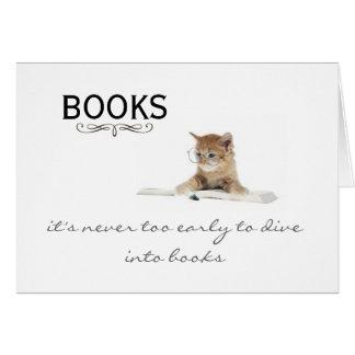 Libros.  ¡Nunca es demasiado temprano! Tarjetas de