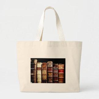 Libros obligatorios de cuero del diseño del siglo bolsa tela grande