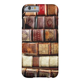 Libros obligatorios de cuero del diseño del siglo funda para iPhone 6 barely there