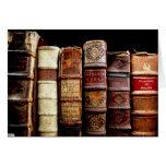 Libros obligatorios de cuero del diseño del siglo  tarjeta