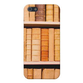 Libros obligatorios de cuero del siglo XVII antigu iPhone 5 Carcasa