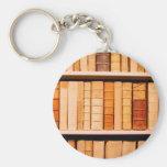 Libros obligatorios de cuero del siglo XVII antigu Llavero Personalizado