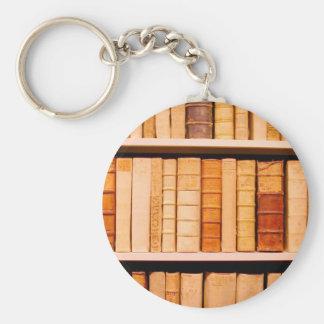 Libros obligatorios de cuero del siglo XVII antigu Llavero Redondo Tipo Pin
