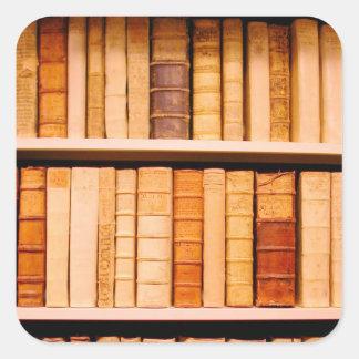 Libros obligatorios de cuero del siglo XVII Pegatina Cuadrada