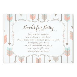 """Libros para la tarjeta del parte movible del bebé invitación 3.5"""" x 5"""""""