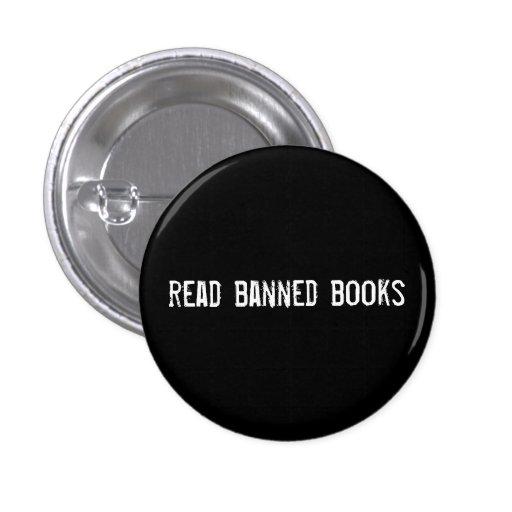 libros prohibidos leídos pin redondo de 1 pulgada