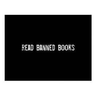 libros prohibidos leídos postal