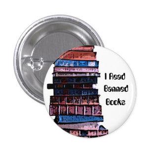 libros prohibidos pin redondo de 1 pulgada