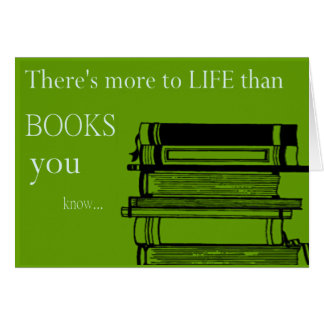 libros que usted sabe tarjeta de felicitación