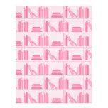 Libros rosados en estante flyer personalizado