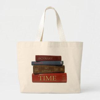 LIBROS tan muchos libros tan poca hora Bolsa De Mano