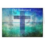 Libros testamento mencionado de la biblia del VIEJ Tarjetón