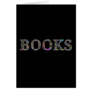 Libros: un diseño para los aficionados a los tarjeta pequeña