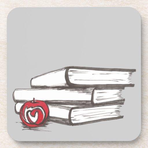 Libros + Un personalizable de Apple el | Posavasos De Bebidas