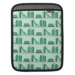 Libros verdes en estante manga de iPad