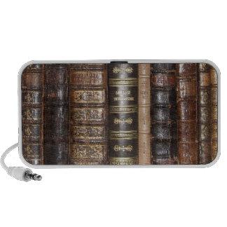 Libros viejos altavoces