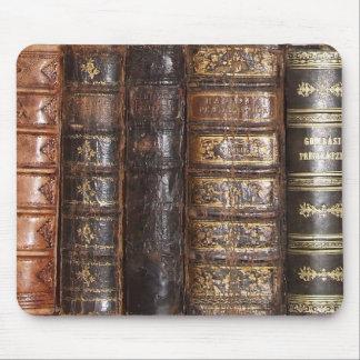Libros viejos alfombrilla de raton