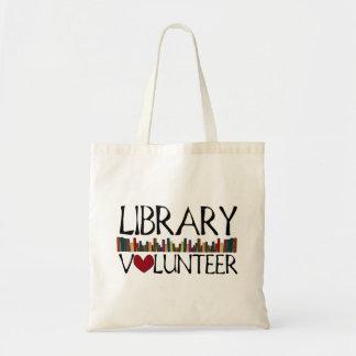 Libros voluntarios de la biblioteca bolsa tela barata