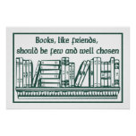 Libros y amigos poster